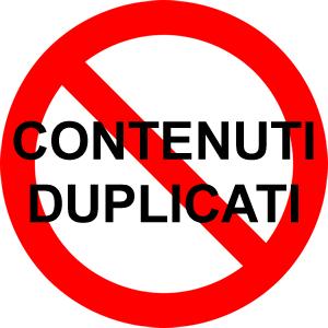evitare i contenuti duplicati nella seo